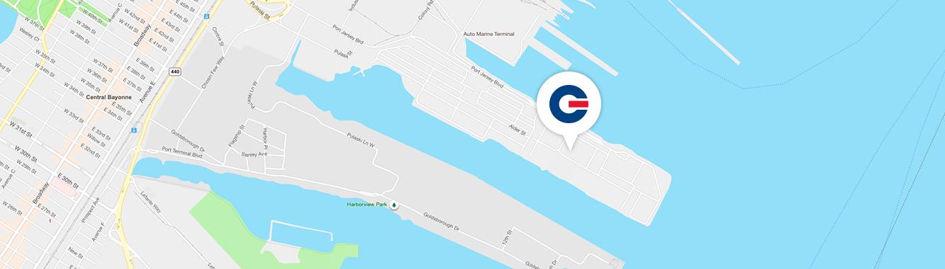 map of GCT Bayonne location